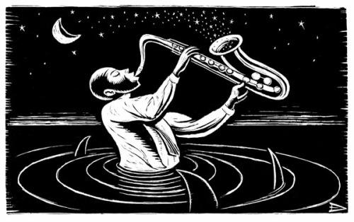 Drowning-saxophone
